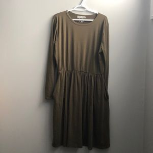 Olive winter dress